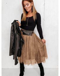 Suknja - kod 2522 - smeđa