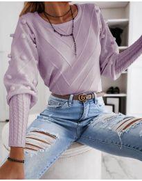 Bluza - kod 5753 - svijetlo ljubičasta