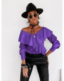 Bluza - kod 6030 - ljubičasta
