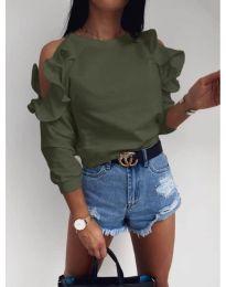 Bluza - kod 3434 - maslinasto zelena