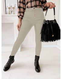 Дамски панталон в бежово  - код 9095