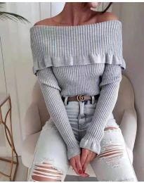Bluza - kod 7131 - siva