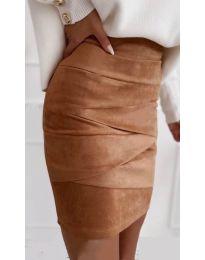 Suknja - kod 7451 - smeđa
