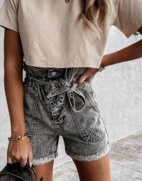 Kratke hlače - kod 4525 - 1 - siva