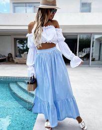 Suknja - kod 3836 - svijetlo plava