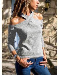 Bluza - kod 4616 - siva