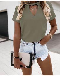 Majica - kod 3597 - zelena