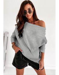Džemper - kod 4323 - siva