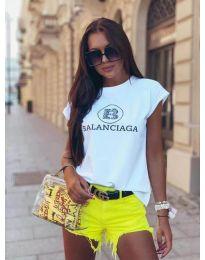 Дамска тениска в бяло - код 5357