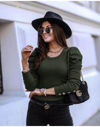 Bluza - kod 4448 - maslinasto zelena