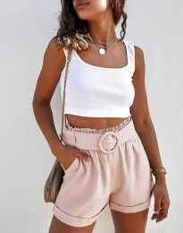Kratke hlače - kod 8164 - svijetlo ružičasta