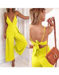 Stilski ženski kombinezon u žutoj boji - kod 720