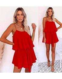 Slobodna haljina u crvenoj boji - kod 721