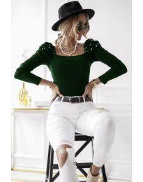 Bluza - kod 15766 - 3 - tamno zelena