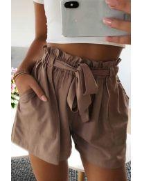 Kratke hlače - kod 3637 - smeđa