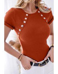 Дамска тениска в меднокафяво - код 0163