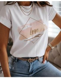 Majica - kod Тениска - код 3710 - бял - bijela