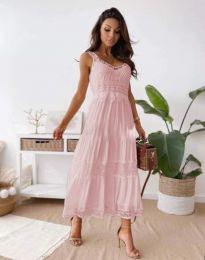 Haljina - kod 4672 - svijetlo ružičasta