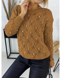 Džemper - kod 392 - smeđa
