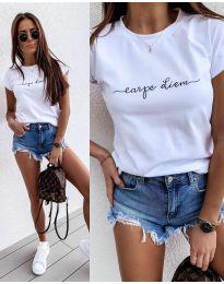Majica - kod 3438 - 1 - bijela