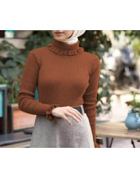 Bluza - kod 6556 - smeđa