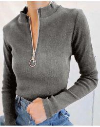 Bluza - kod 2059 - 4 - siva