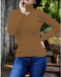 Bluza - kod 5191 - smeđa