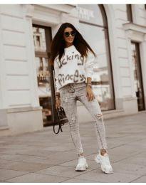 Bluza - kod 41488 - bijela