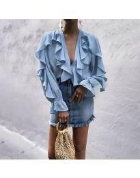 Bluza - kod 9051 - svijetlo plava