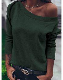 Bluza - kod 4417 - maslinasto zelena
