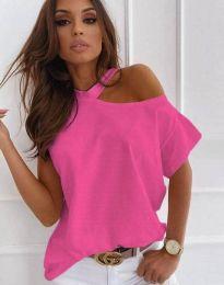 Ефектна дамска тениска в розово - код 0599