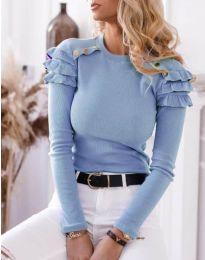 Bluza - kod 1645 - 1 - svijetlo plava