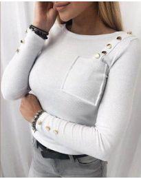 Bluza - kod 1597 - 3 - bijela