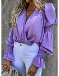 Bluza - kod 5451 - ljubičasta