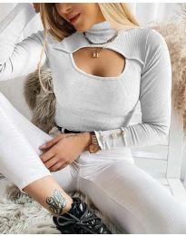 Polo bluza - kod 1591 - 5 - bijela