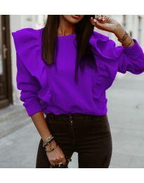Bluza - kod 3890 - ljubičasta