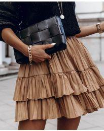 Suknja - kod 4122 - smeđa