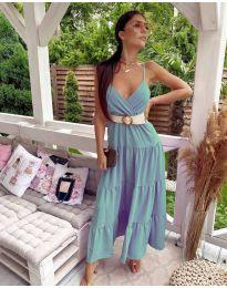 Slobodna duga haljina u tirkiznoj boji - kod 719