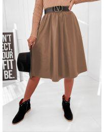 Suknja - kod 6767 - smeđa