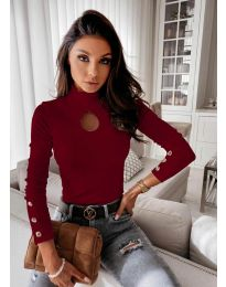 Bluza - kod 9917 - 2 - bordo