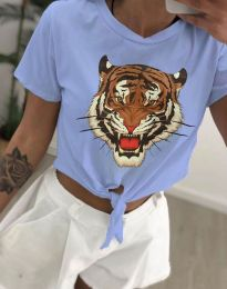 Majica - kod 6101 - svijetlo plava