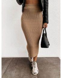 Suknja - kod 4043 - kapućino