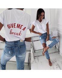 Majica - kod 3293 - bijela