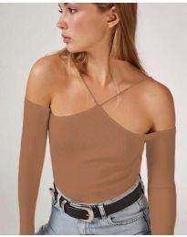 Bluza - kod 8063 - smeđa