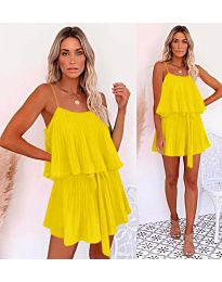 Slobodna haljina u žutoj boji - kod 721