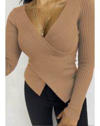 Bluza - kod 6322 - smeđa